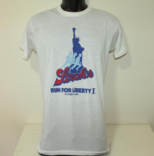 Stroh's Lady Liberty vtg t-shirt Tall S/M
