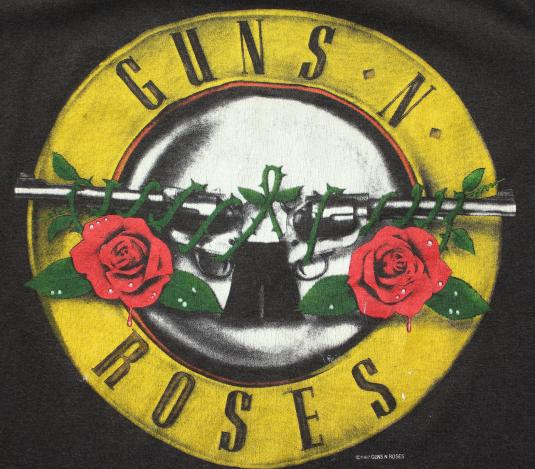 Guns N' Roses Was Here 1987 vintage black t-shirt Medium