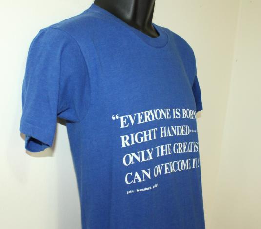 Left Handers Only vintage blue Healthknit t-shirt XS/S