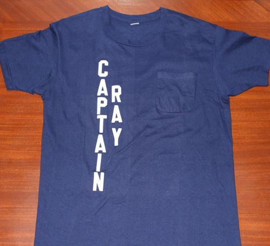 Captain Ray vintage Hanes navy blue pocket t-shirt Tall L/M