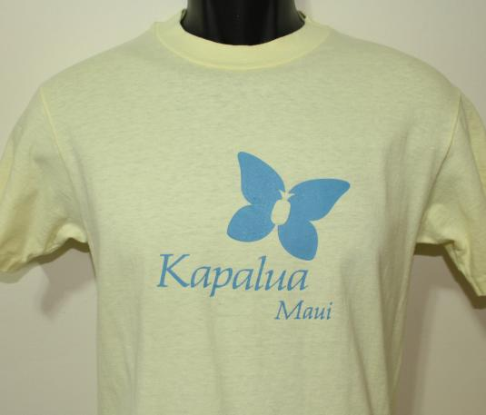 Kapalua Maui Butterfly vintage yellow t-shirt Medium/Small
