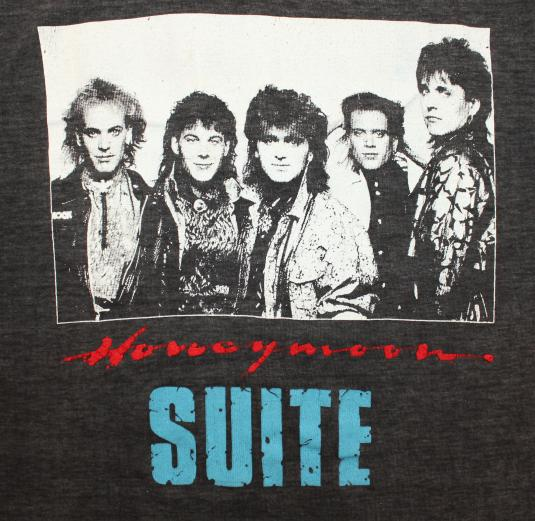 Honeymoon Suite band vtg tee XS/S black 80s DISRESSED