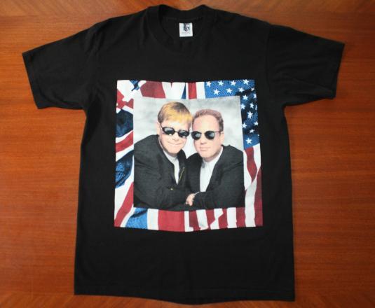 Elton John Billy Joel 1994 tour vintage black t-shirt M/L