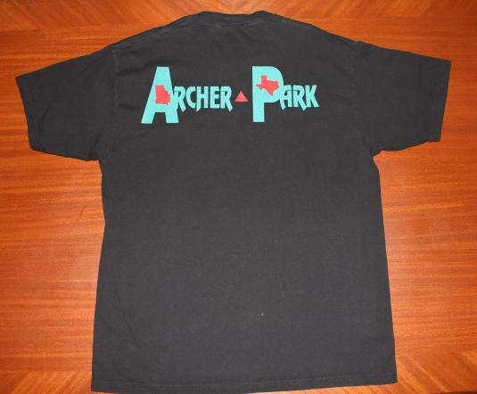 Archer Park Country Music 1995 vintage black t-shirt XL
