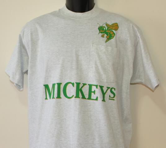 Mickey's Malt Liquor vintage gray pocket t-shirt XL