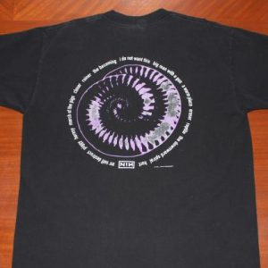 Nine Inch Nails NIN 1994 Downward Spiral vintage t-shirt XL