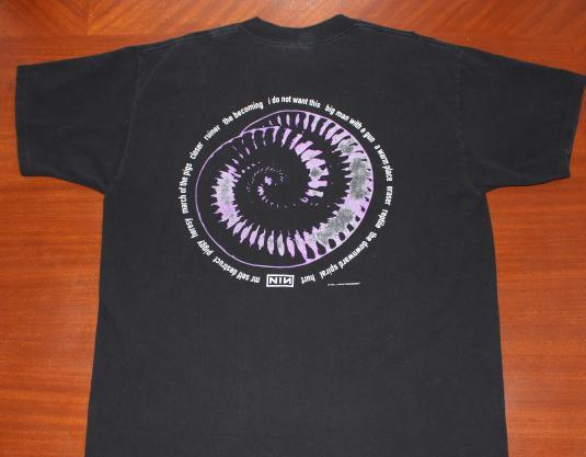 Nine Inch Nails NIN 1994 Downward Spiral vintage t-shirt XL