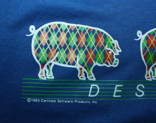 Iowa Designer Pigs vintage 80s 1983 Sportswear t-shirt L/XL