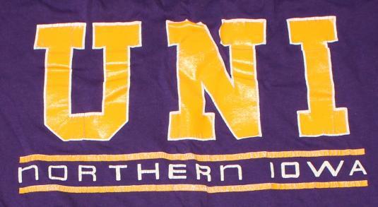 UNI Northern Iowa Panthers vintage t-shirt L