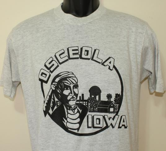 Osceola Iowa Native American Farm vintage t-shirt M/L