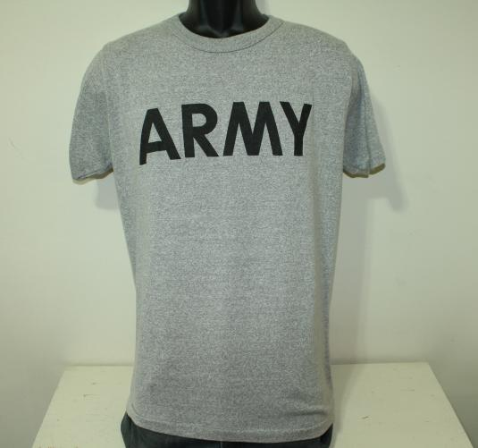 Army vintage 80s gray Champion t-shirt M/L 50/50 soft