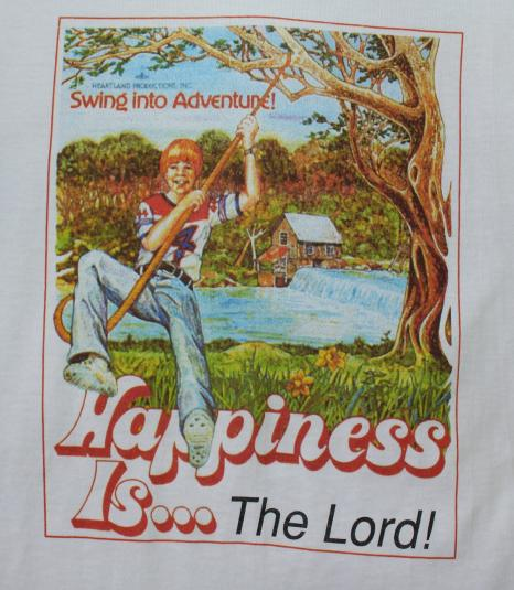 Happiness is the Lord vintage DEADSTOCK t-shirt Small
