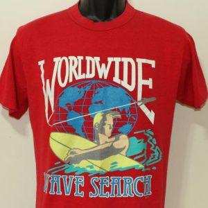 Worldwide Wave Search vintage Top Half t-shirt Medium/Large