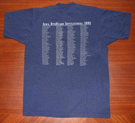 Dance Iowa GymStars Invitational 1991 vintage t-shirt L/M
