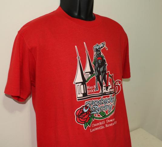 Kentucky Derby Churchill Downs 1990 vintage red t-shirt L