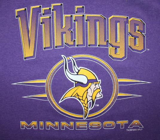 Minnesota Vikings vintage 90s 1993 Logo 7 t-shirt Tall L
