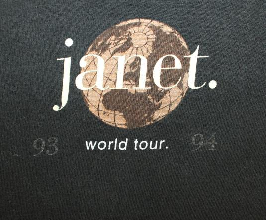 Janet Jackson World Tour 1993 vtg tee XL/XXL black R&B pop