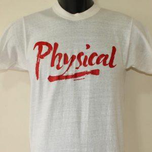 Physical Olivia Newton John vintage white t-shirt XXS/XS