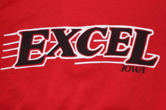 Excel Iowa #20 vintage red Screen Stars t-shirt Large