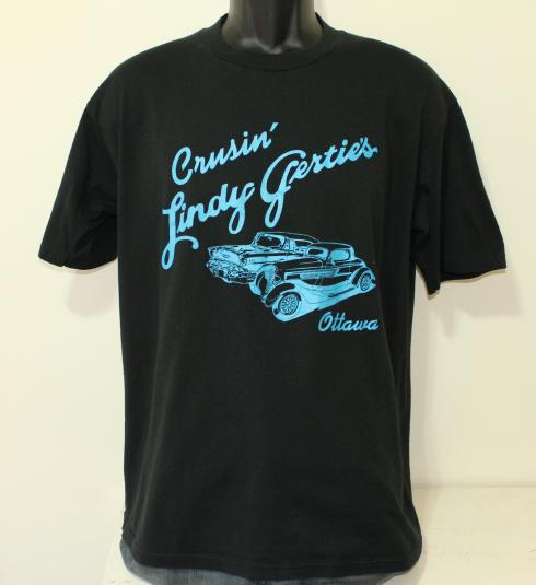 Lindy Gertie's Ottawa Illinois vintage black t-shirt XL/L