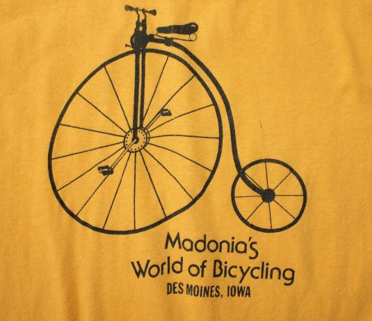 Madonia's World of Bicycling Des Moines Iowa vintage t-shirt