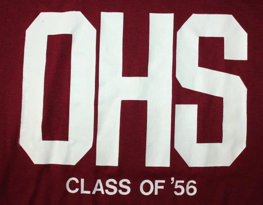DHS Class of '56 vintage maroon Russell Athletic t-shirt S/M