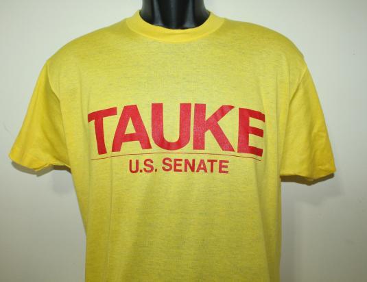 Tom Tauke US Senate Republican vtg Screen Stars t-shirt L