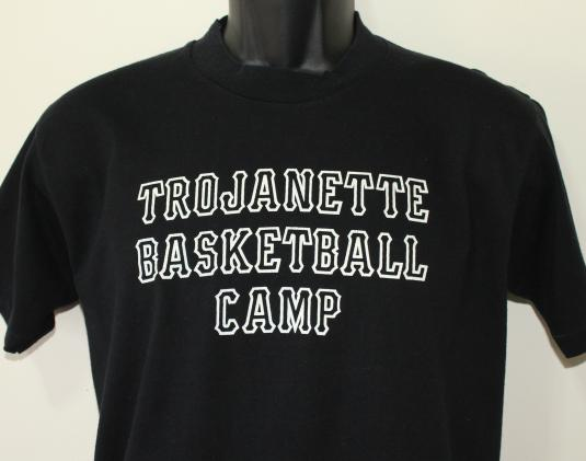 Trojanette Basketball Camp vintage Velva Sheen t-shirt L/M