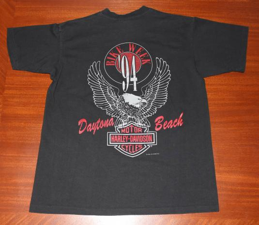 Harley Davidson Daytona Beach Bike Week 1994 vtg t-shirt M