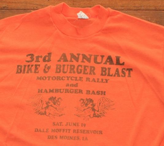 Bike and Burger motorcycle rally vintage t-shirt L/M