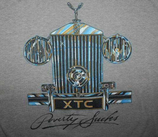 XTC Poverty Sucks Rolls Royce vtg t-shirt L/XL brown soft