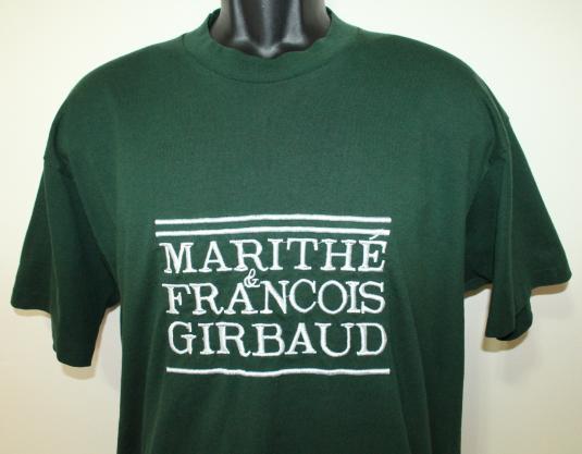 Marithe & Francois Girbaud designer vintage green t-shirt XL