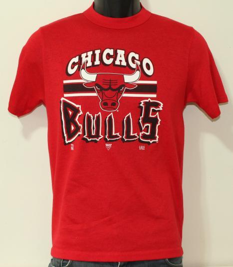 Chicago Bulls 1992 vintage red Garan t-shirt Small