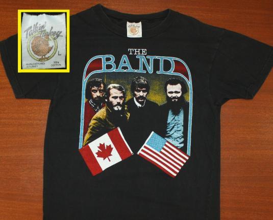 The Band 1983 World Tour vtg t-shirt black M Levon Helm