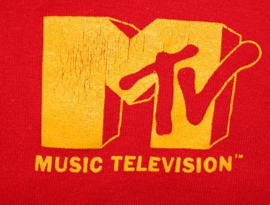 MTV Music Television vintage hoodie hooded sweatshirt M/L