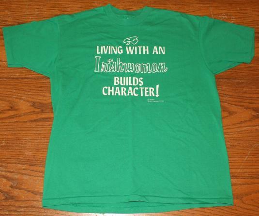Living With An Irishwoman vintage t-shirt L/XL