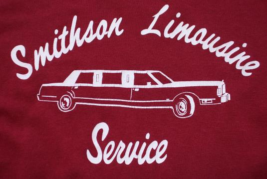 Smithson Limousine Service vintage maroon t-shirt M/S