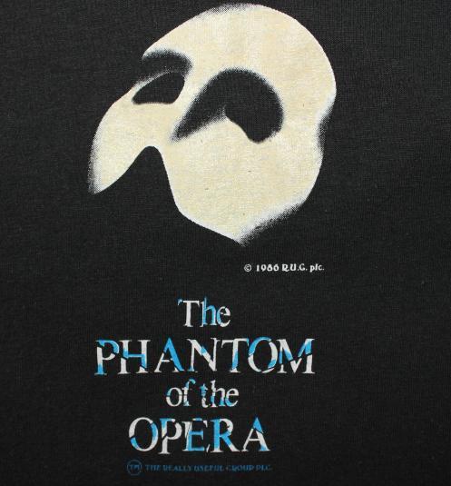 Phantom of the Opera vintage Screen Stars black t-shirt M/L