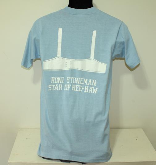 Roni Stoneman Hee-Haw bra vtg 70s t-shirt Tall S