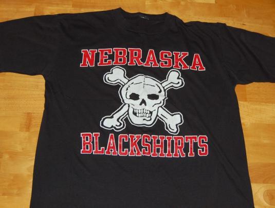 Nebraska Cornhuskers Blackshirts vintage tshirt L/XL