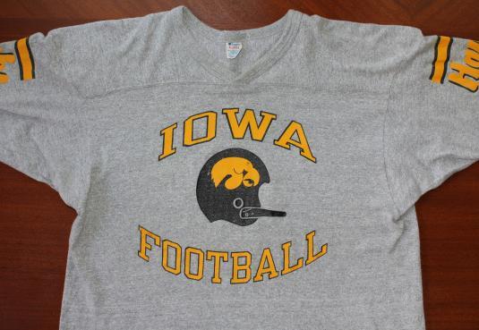 RAYON Iowa Hawkeyes Football vintage Champion t-shirt Large/