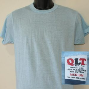 QLT vintage deadstock blank light blue t-shirt M/S