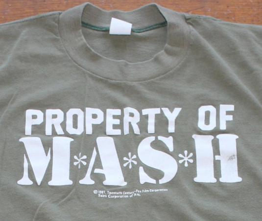 MASH movie 1981 vintage t-shirt Small