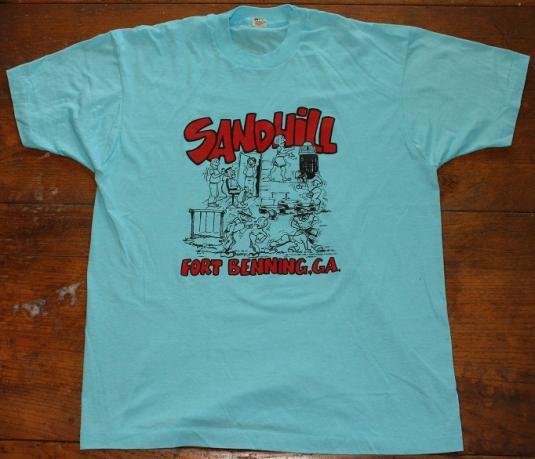 Sand Hill Fort Benning Georgia 1987 vintage t-shirt large