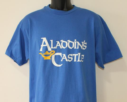 Aladdin's Castle Arcade vintage blue t-shirt XL