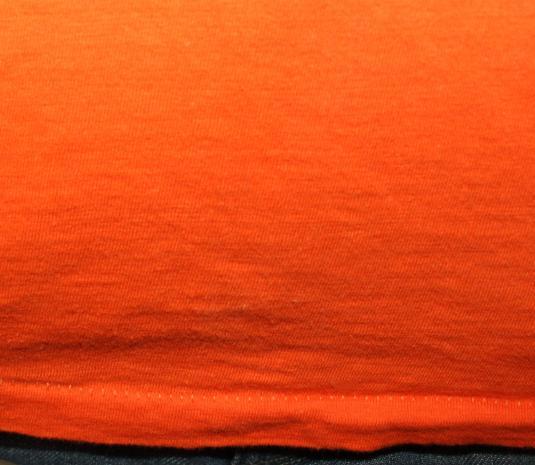 Love female male 70s hippie vintage orange t-shirt Tall XS/S