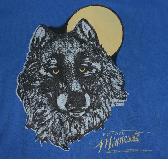 Minnesota Wolf vintage Screen Stars t-shirt Large/Medium