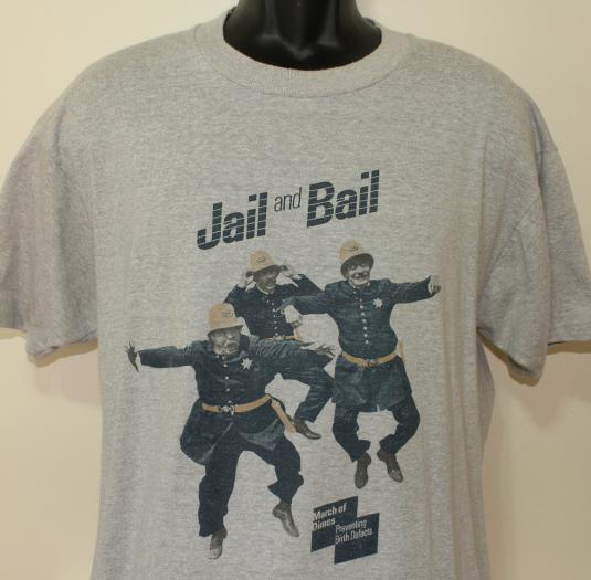 March of Dimes Jail and Bail vintage t-shirt Large/XL