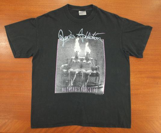 Jane's Addiction Nothing's Shocking vtg tee Short L/XL black