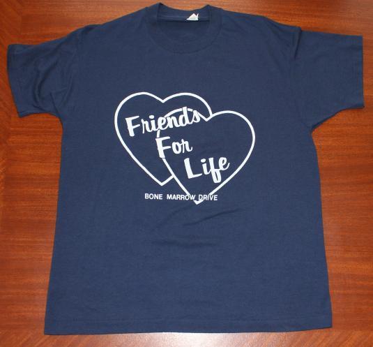 Friends For Life Bone Marrow Drive vintage t-shirt M/L